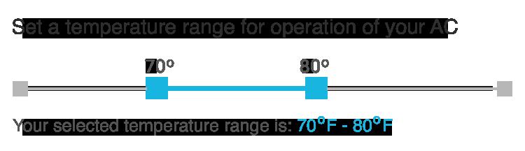 Set temperature range of your choice