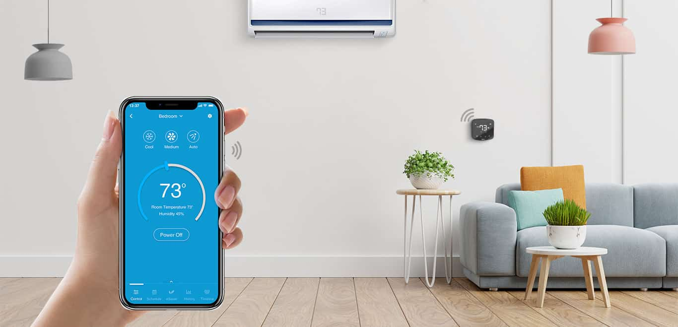 Control your air conditioner with Cielo Home mobile application.