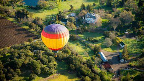Hot air balloon - hot air rises, cold air sinks